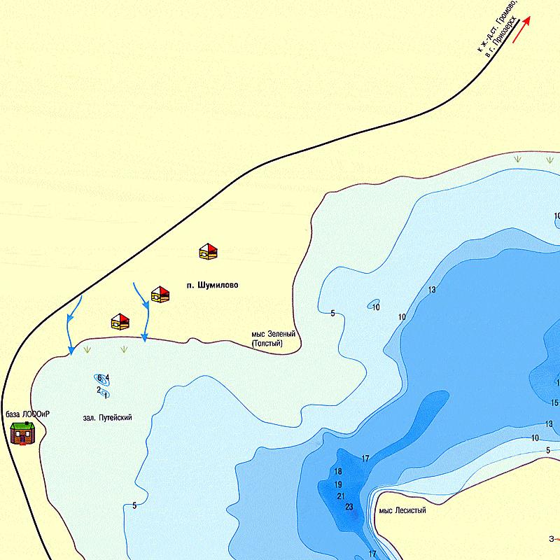 Озеро Нечерица Карта Глубин
